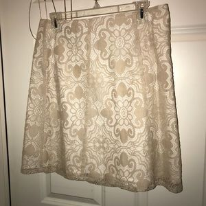 New York & CO beige lace skirt!
